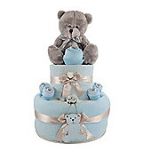 Baby Boy Teddy Bear Nappy Cake gift
