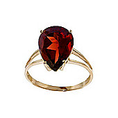 QP Jewellers 5.0ct Garnet Pear Drop Ring in 14K Gold