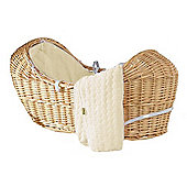 Isabella Alicia Natural Izzy-Pod Moses Basket (Bubble Cream)