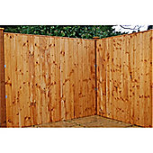 6FT Pressure Treated Vertical Feather Edge (Flat Top) - 1 Panel Only (Min Order 3 Panels)