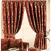 Zurich Lined Ready Made Curtains - Red