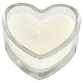 Set Of 3 Vanilla Heart Candles