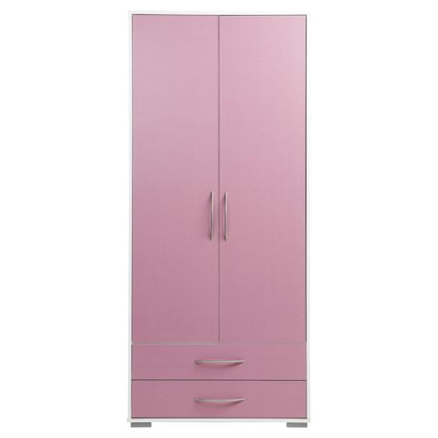 Newport Double 2 Drawer Wardrobe Pink
