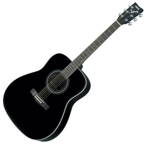 Full Size Yamaha Acoustic Guitar - Black.