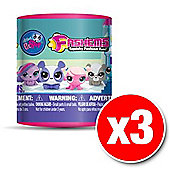 Littlest Pet Shop Characters Mashems Blind Pack (x3 Packs Supplied)