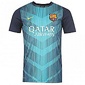 2013-14 Barcelona Nike Pre-Match Training Jersey (Aqua) - Blue