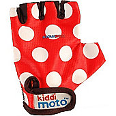 Kiddimoto Gloves Red Dotty (Medium)