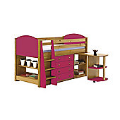 Verona Mid Sleeper Set 1 Antique With Fuchsia Details