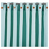 Tesco Plain Canvas Unlined Belt Top Curtain 66x90'' - Eau De Nil