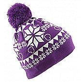 Beanie With Bobble Pattern