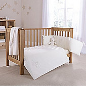 Clair de Lune 2pc Cot Bed Bedding Set (Starburst Cream)