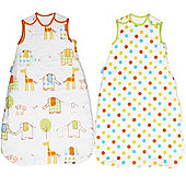 Grobag Hippo Hop & Spot 1 & 2.5 Tog Twin Pack (18-36 Months)