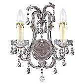 Savoy House Champagne Rose Chandelier in Distressed Silver