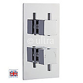 Ultra Pioneer Twin Thermostatic Shower Valve with Square Handles