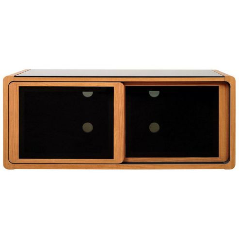 Optimum Light Walnut TV Cabinet for up to 50 inch TVs