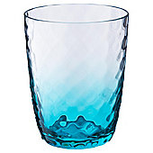 Hammered effect clear acrylic tumbler turquoise tint