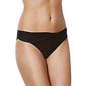 F&F Magic Wrap Detail Bikini Briefs - Black