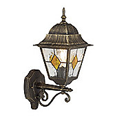 Brilliant Jason 1 Light Outdoor Wall Lantern - Black Gold