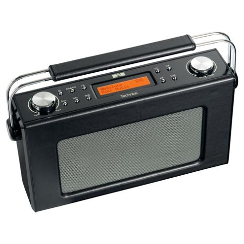 Technika DAB 211L Retro Leather Radio Black