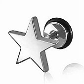 Urban Male Stainless Steel Star Fake Ear Plug 1.2mm