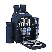 VonShef 2 Person Blue Picnic Backpack