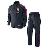 2014-15 Barcelona Nike Woven Tracksuit (Obsidian-Pink) - Navy