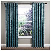 "Sierra Lined Eyelet Curtains W117xL137cm (46x54"") - - Teal"