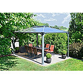 Palram Martinique 3x4 Dark Grey Gazebo