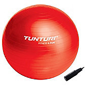 Tunturi Fun Exercise Gym Ball with Pump - Red 65cm