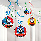 Thomas the Tank Engine Party Hanging Swirls - 61cm (12pk)