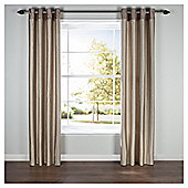 Silhouette Lined Eyelet Curtains - Natural