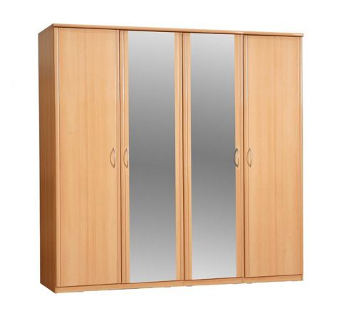 Ideal Furniture Ruby 4 Door Wardrobe with Mirrors