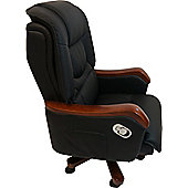 Colosseum Compact Leather Executive Chair - Black
