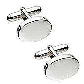 Sterling Silver Oval Engraveable Cufflinks