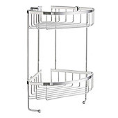 Smedbo Sideline Double Corner Soap Basket - Polished Chrome