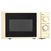 Tesco M2015C 17L Colour Manual Microwave Cream
