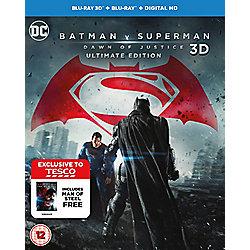 Batman V Superman/Man Of Steel 3D Blu-ray (Tesco Exclusive)