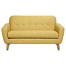 Capri Medium 2 Seater Fabric Sofa, Yellow