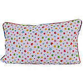 Homescapes Cotton Multi Colour Stars Scatter Cushion, 30 x 50 cm
