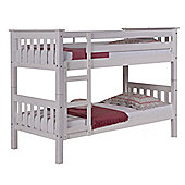 Short Barcelona Bunk Bed in Whitewash - Single