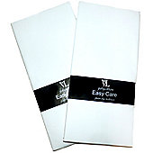 2 x Easycare Flat White Cotbed Cot Sheets Polyester Cotton