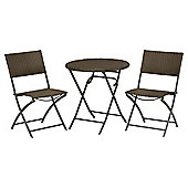 Royalcraft Cannes Wicker Bistro Set, Brown