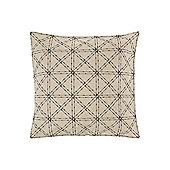 Linea Mono Mark Felt Diagonal Grid Cushion - Beige