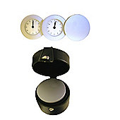Travel Clock with Multi Time Zone & Leather travel Case
