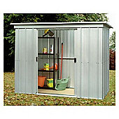 Yardmaster 7'4x4' Metal Pent Shed with floor support frame