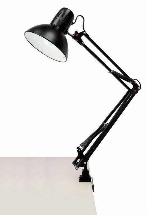 Lloytron 60W Home Essence Modus Swing Arm Hobby Desk Lamp Black
