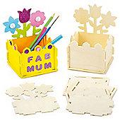 Flower Garden Wooden Desk Tidy Kits (Pack of 2)