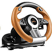 SPEEDLINK Drift O.Z. Racing Wheel with Pedals and Gear Stick for PC - SL-6695-BKOR-01
