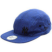New Era Cap Co Scatter Out NY Yankees 5 Panel Cap - Royal/Black - Blue