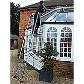 Henchman Aluminium Senior Hi-Steps Garden Ladder